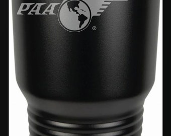 PanAm Logo 30 Ounce Black Polar Camel Tumbler (Also Available in Red, White, Gray, & Blue)