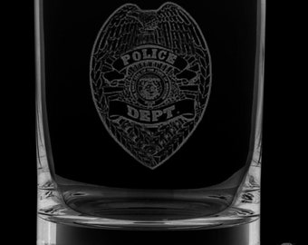 Police Department 13 Ounce Rocks Glass