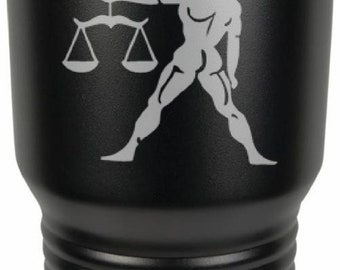 Libra 30 Ounce Black Polar Camel Tumbler (Also Available in Red, White, Gray, & Blue)