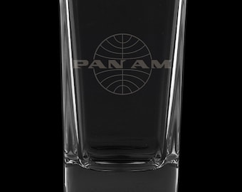 PanAm Logo, 2.75 Ounce Dessert Shot Glass (Also available in 2.0oz)