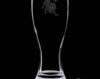Leo 18 Ounce Personalized Pilsner Glass