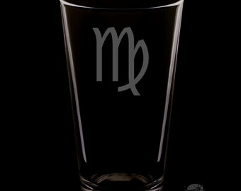 Virgo Pint Glass.