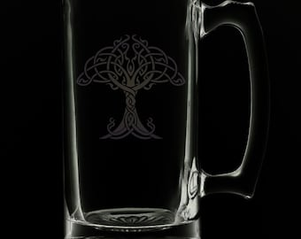 Tree Of Life 25 Ounce Beer Mug (Also Available in 16oz & 12oz)
