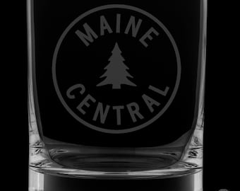 Maine Central Railroad 13 Ounce Rocks Glass
