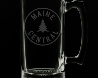Maine Central Railroad Logo 25 Ounce Beer Mug (Also Available in 16oz & 12oz)