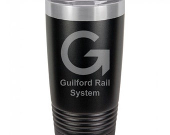 Guilford Rail System 20 Ounce Black Polar Camel Tumbler (Also Available in Red, White, Gray, & Blue)