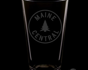 Maine Central 16 Ounce Pint Glass