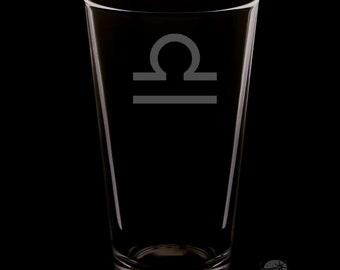 Libra Pint Glass.