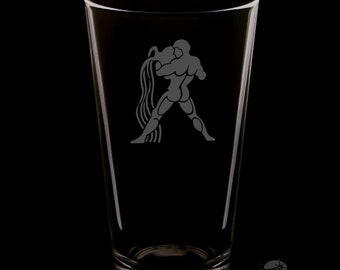 Aquarius 16 Ounce Pint Glass
