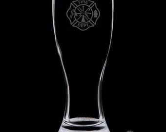 Fire Department Pilsner Glass