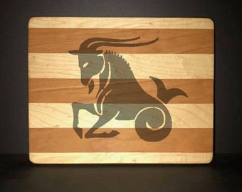 "Capricorn 8""X 10"" Hand Made Cutting Board (Also Available in 7""X 9"" & 12""X 14"")"