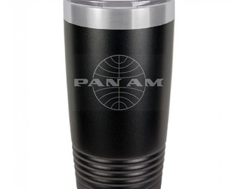 PanAm 20 Ounce Black Polar Camel Tumbler (Also Available in Red, White, Gray, & Blue)