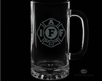 IAFF 16 Ounce Personalized Beer Mug