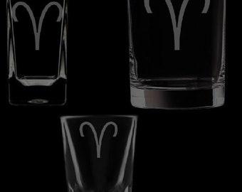 Aries Symbol Shot Glassware