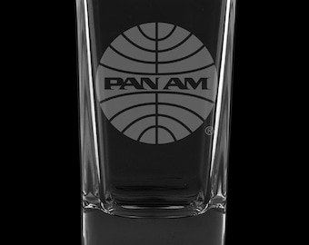 PanAm 1957 Logo, 2.75 Ounce Dessert Shot Glass (Also available in 2.0oz)