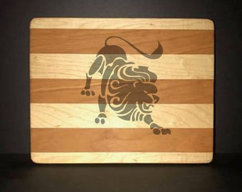 "Leo 8""X 10"" Hand Made Cutting Board (Also Available in 7""X 9"" & 12""X 14"")"