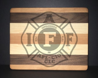 "IAFF 8""X10"" Cuttingboards Made Out Of Cherry, Black Walnut, and Maple (7X9 & 12""X14"" Also Available)"