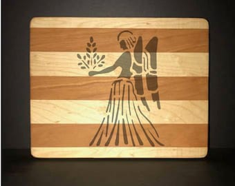 Virgo Cuttingboards Made Out Of Cherry and Maple (8 X10 size displayed)