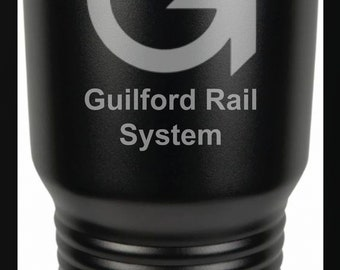 Guilford Rail System Logo 30 Ounce Black Polar Camel Tumbler (Also Available in Red, White, Gray, & Blue)