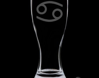 Cancer 18 Ounce Pilsner Glass