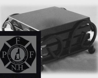 PFFNH Drink Coasters Made Out Of Black  Granite, or Polished Slate (Black Granite - Best Value)