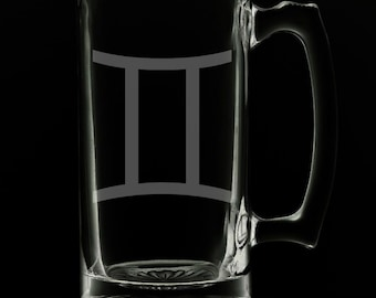 Gemini 25 Ounce Beer Mug (Also Available in 16oz & 12oz)