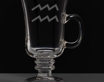 Aquarius 8.5 Ounce Irish Coffee Mug