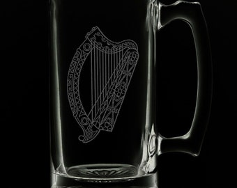 Irish Harp 25 Ounce Beer Mug (Also Available in 16oz & 12oz)