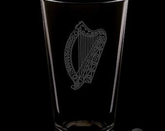 Irish Harp 16 Ounce Pint Glass
