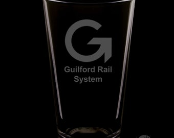 Guilford Rail System 16 Ounce Pint Glass