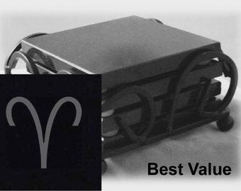 Aries Drink Coasters Made Out Of Black  Granite, or Polished Slate (Black Granite - Best Value)