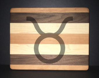 "Taurus 8""X 10"" Hand Made Cutting Board (Also Available in 7""X 9"" & 12""X 14"")"