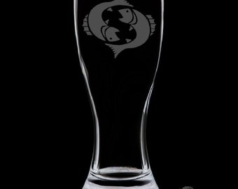 Pisces 18 Ounce Pilsner Glass