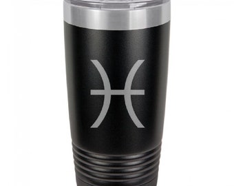 Pisces 20 Ounce Black Polar Camel Tumbler (Also Available in Red, White, Gray, & Blue)