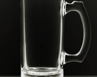 12 Ounce Blank Beer Mug