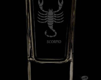 Scorpio 2.5 Ounce Personalized Shot Glass