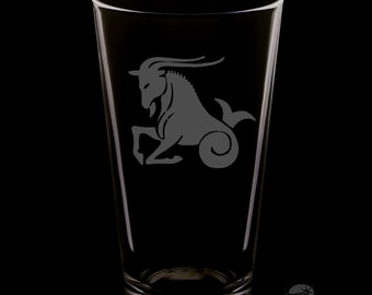 Capricorn 16 Ounce Pint Glass