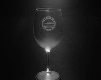 Pan Am 1927 Logo Wine Glass