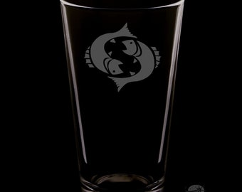 Pisces Pint Glass.