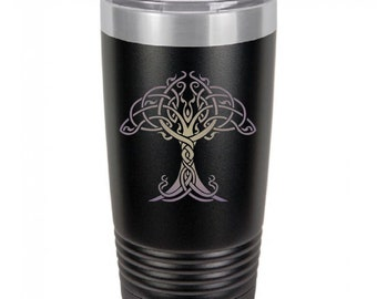 Tree Of Life 20 Ounce Black Polar Camel Tumbler (Also Available in Red, White, Gray, Green, & Blue)