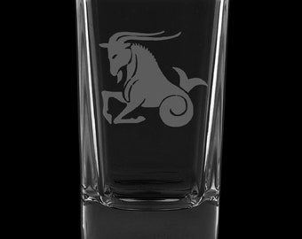 Capricorn 2.75 Ounce Dessert Shot Glass (Also available in 2.0oz)