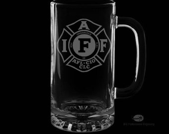 IAFF 16 Ounce Personalized Beer Mug