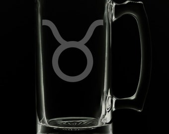 Taurus 25 Ounce Beer Mug (Also Available in 16oz & 12oz)