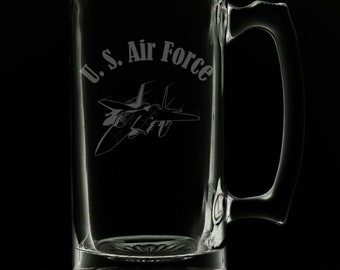 United States Air Force 25 Ounce Beer Mug (Also Available in 16oz & 12oz)