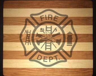 Fire Department Cutting Board.