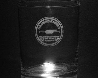 Pan Am 1927 Globe 13 Ounce Rocks Glass.