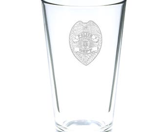 Police Department 16 Ounce Personalized Pint Glass