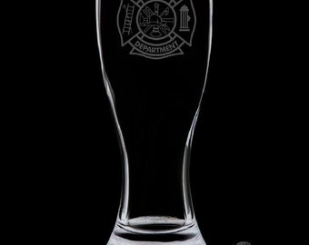 Fire Department 18 Ounce Pilsner Glass