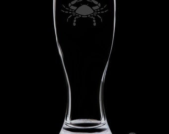 Cancer 18 Ounce Personalized Pilsner Glass