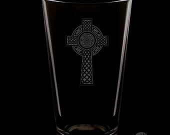 Celtic Cross 16 Ounce Pint Glass